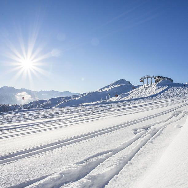 Snow space Flachau an sonnigem Wintertag
